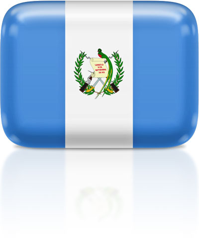 Guatemalan flag clipart rectangular