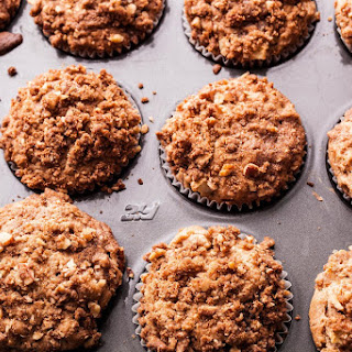Apple Muffins with Pecan Streusel