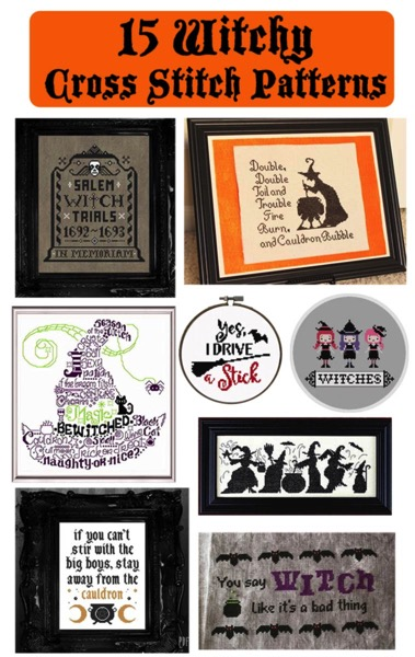 15 Witchy Cross Stitch Patterns