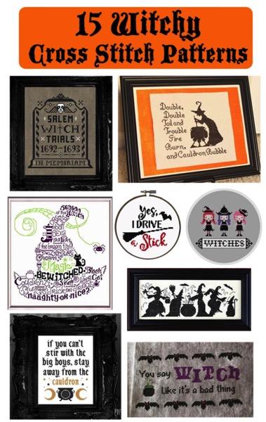 15 Witchy Cross Stitch Patterns