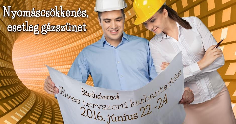 Gázvezeték karbantartás 2016 június Bárdudvarnokon