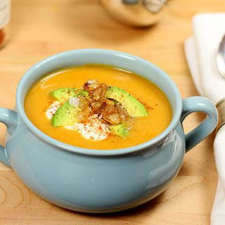 Butternut Squash and Roasted Pepper Soup.