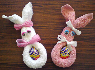 Face-Cloth Easter Bunny!