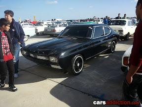 Black Ford Capri Mk1