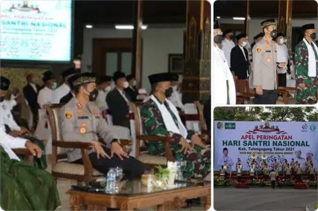 Peringati Hari Santri Nasional, Kapolres Tulungagung Hadir Dalam Upacara HSN Tahun  2021 dan Beri Ucapan Selamat
