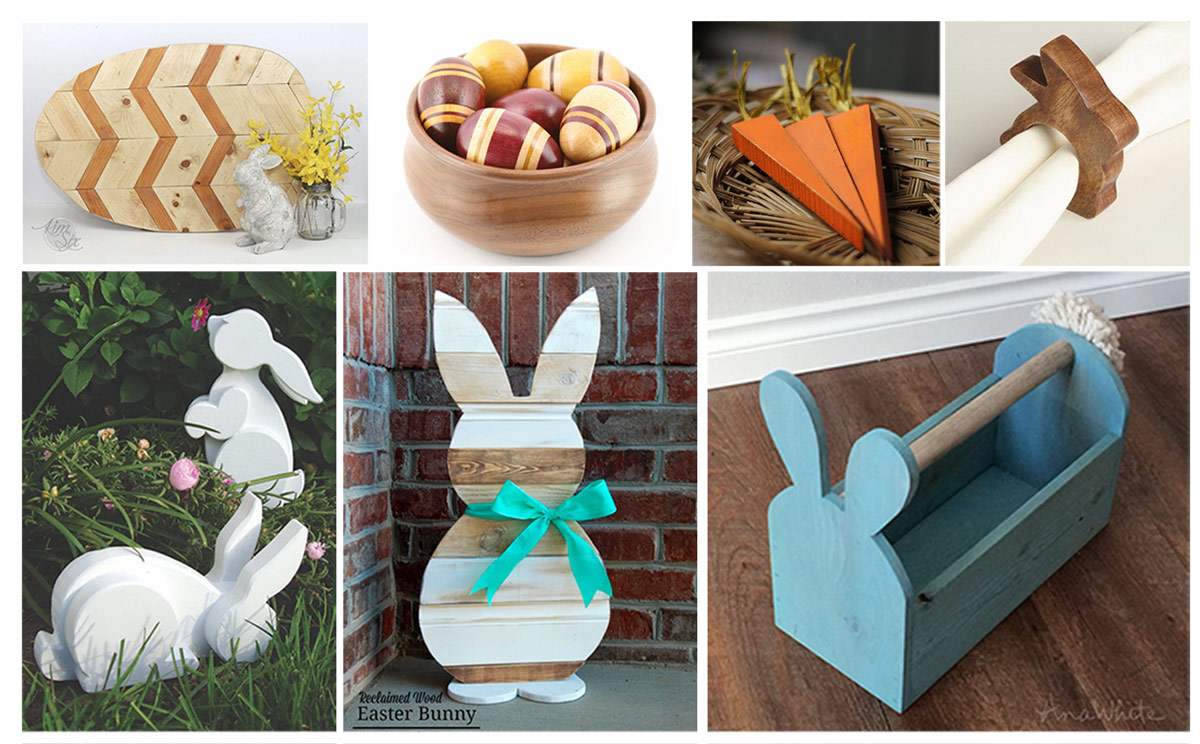 12 Woodworking Easter projects