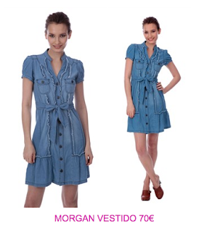 Morgan vestidos denim