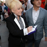 WWW.ENTSIMAGES.COM -   Barbara   Windsor   arriving at          FORBIDDEN BROADWAY - Press Night at Vaudeville Theatre London September 15th 2014Phillip George directs return of Gerard Akessandrini's comedy revue which, when it was first performed in New York, poked fun at a range of Broadway stars including Whoopi Goldberg and Elaine Paige.                                             Photo Mobis Photos/OIC 0203 174 1069
