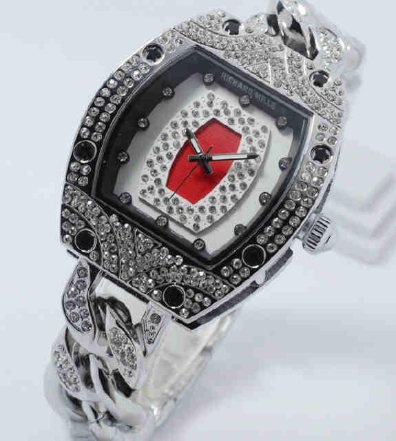 Jual Jam Tangan Richard mille full diamond silver kepang