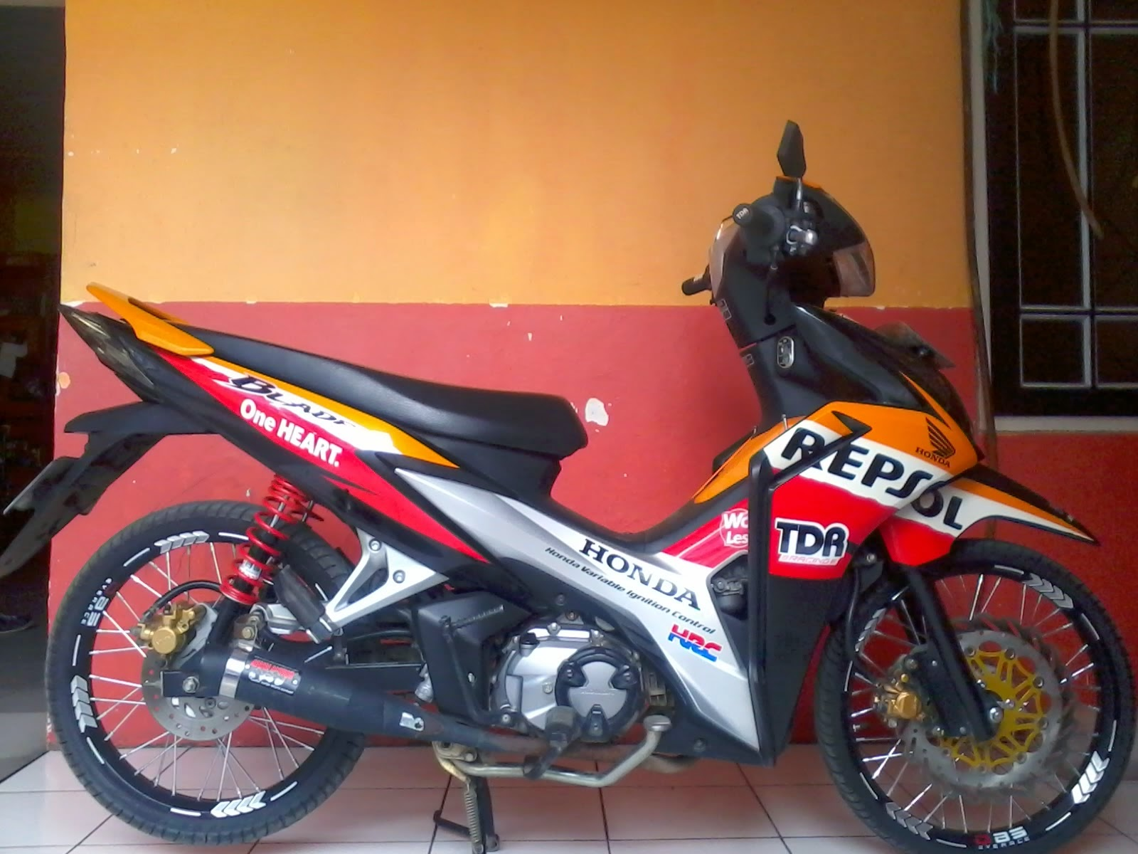 Modifikasi New Honda Blade Standar