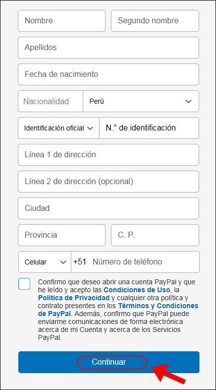 Abrir mi cuenta Paypal - 554