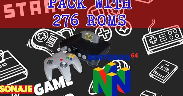 Pack With 276 N64 Roms Velhoscartuchos