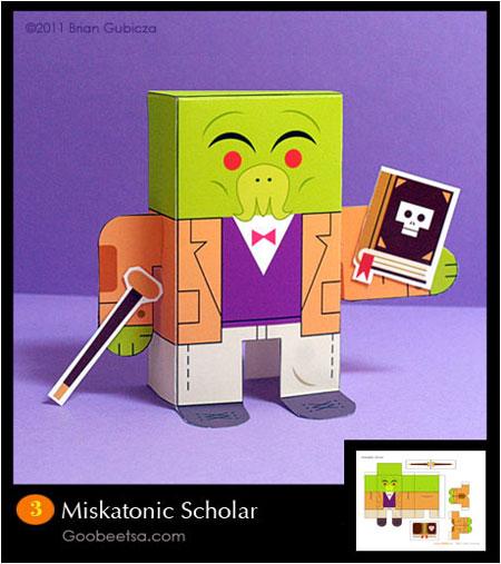 Miskatonic Scholar Paper Toy