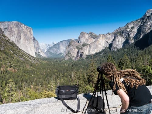 Laurence shooting Yosemite valley with tripod