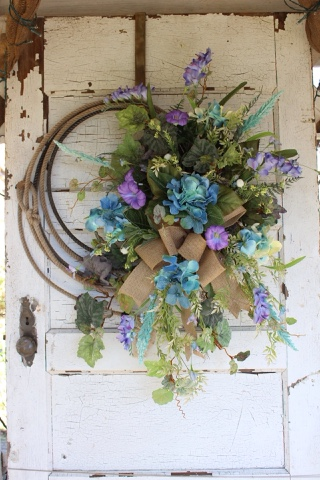 rustic lariat rope wreath