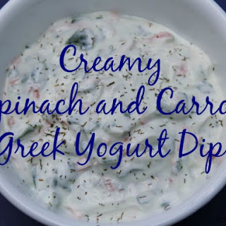 Creamy Spinach and Carrot Greek Yogurt Dip.