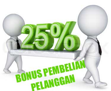 Keuntungan Distributor 25% Bonus Pembelian Pelanggan
