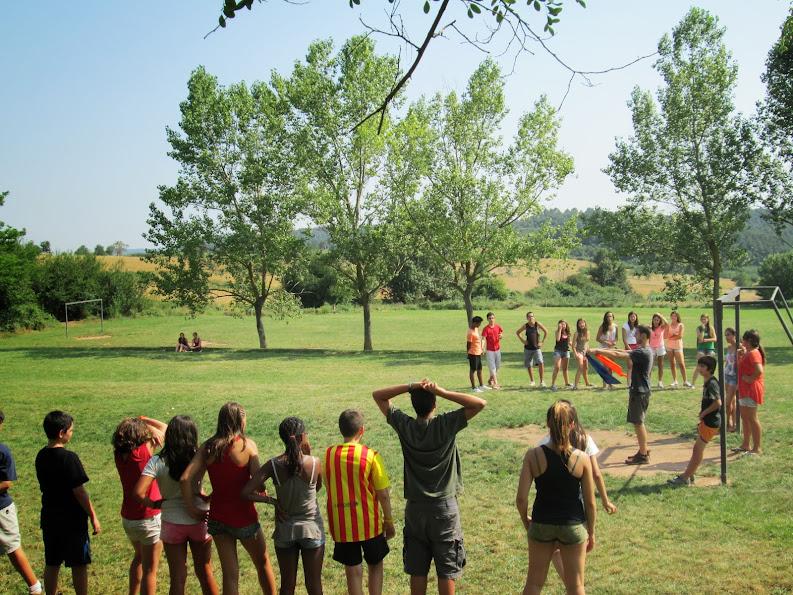 Colònies d'estiu de l'esplai de l'Associació Educativa Can Palet a Mas Saiol.