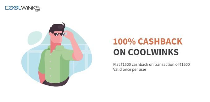 CoolWinks Freecharge Offer - Get 100% Cashback Upto Rs.1500 on Purchase of Sunglasses by Paying via Freecharge