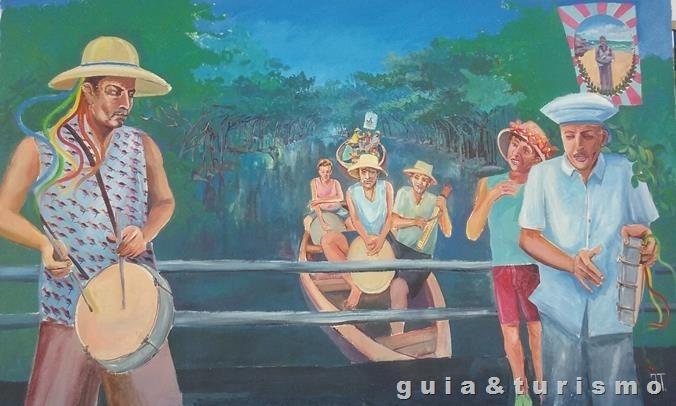 Arte nas ruas de Barra do Jucu