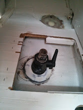 Photo: galley sink drain seacock installed