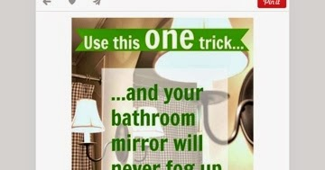The ramblings of a mother of 3 pinterest succeed or fail keeping bathroom mirrors from - Simple ways keep bathroom mirror fogging ...