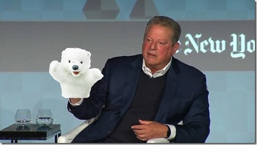 al gore and his little polar bear