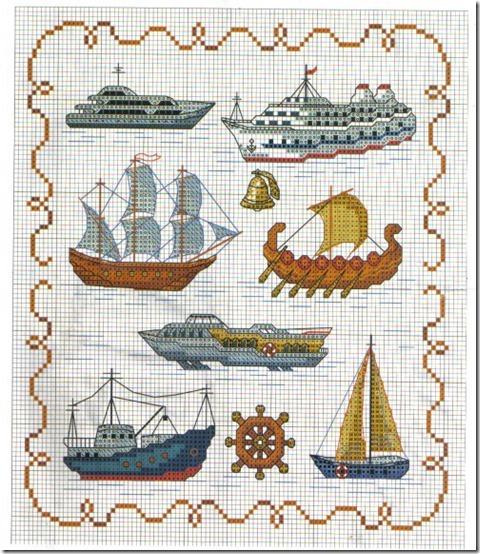 punto de cruz tema marino (13)