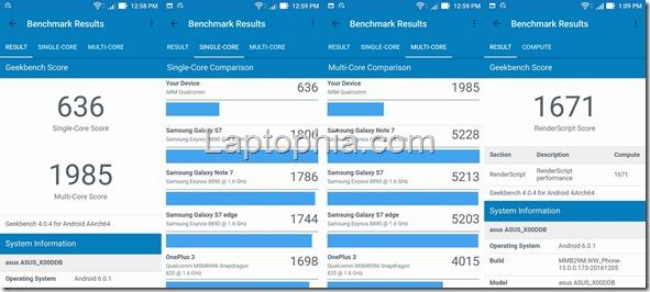 Benchmark Geekbench 4 Asus Zenfone 3 Max ZC553KL