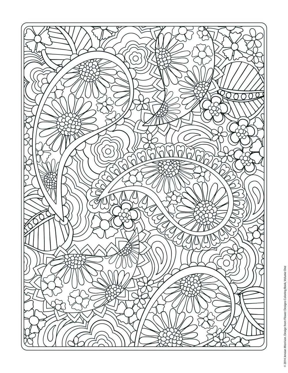 Unique Flowers Coloring Pages Mandala Designs Images