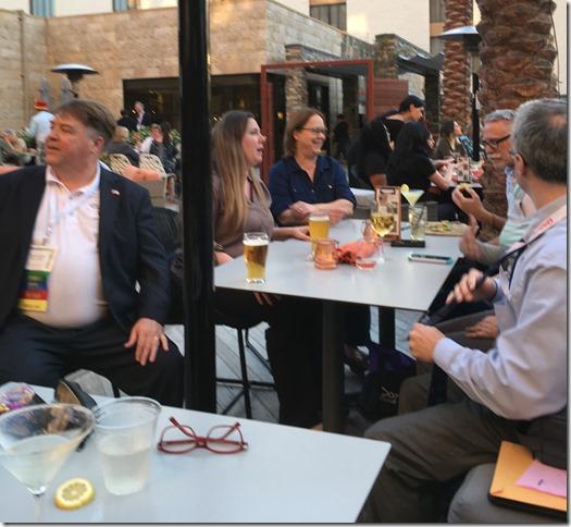 table at Marriott bar