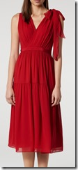 LK Bennett Red Silk Dress