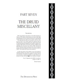 Cover of Reformed Druids's Book Anthology 07 Miscellany