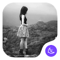 Beautiful girl theme icon