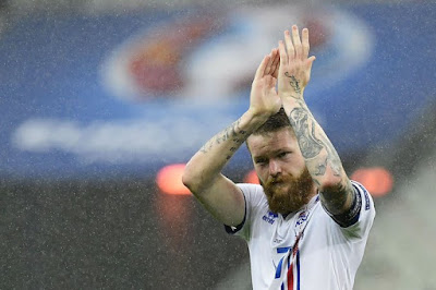Iceland national football team player at the euro 2016