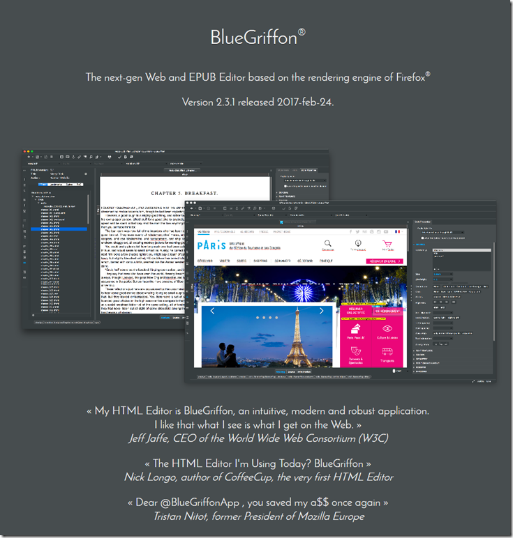 BlueGriffon - WYSIWYG Editor for web designer | Technology
