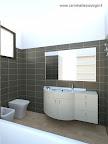 progetto di bagno casa privata a Bergamo-