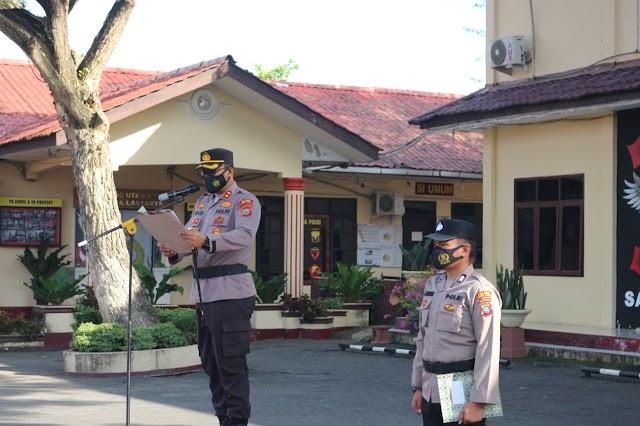 Kapolres Tebing Tinggi AKBP Agus Sugiyarso,S.Ik Pimpin Upacara Hari Kesadaran Nasional