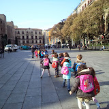 Els nens i nenes de P5 van al Museu Picasso