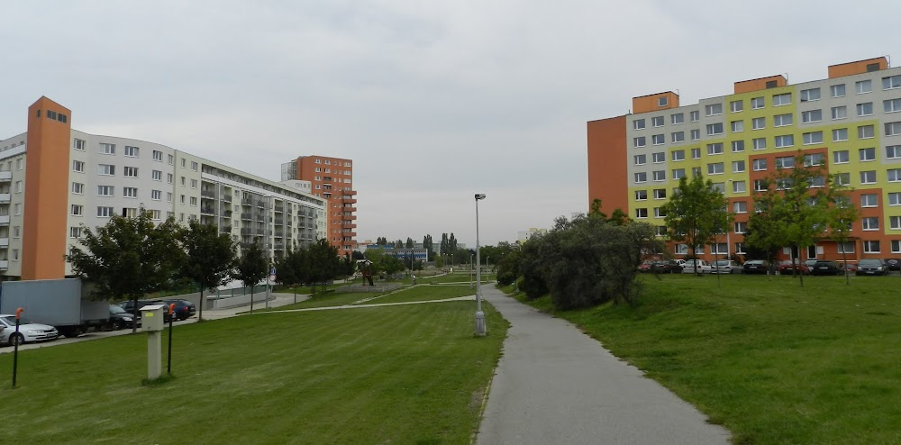 the Czechoslovak bloc-style apartment of my CS hosts, on the outskirts of Prague, to the right...
