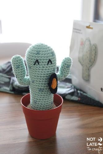 Not 2 late to craft: Cactus amigurumi núm. 3 / Amigurumi cactus nº 3