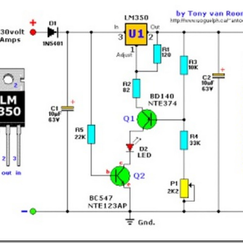 Simple 12 Volt Gel Cell Charger Circuit Diagram