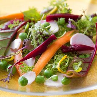 Spring Salad with Alain Passard's Aigre-Doux