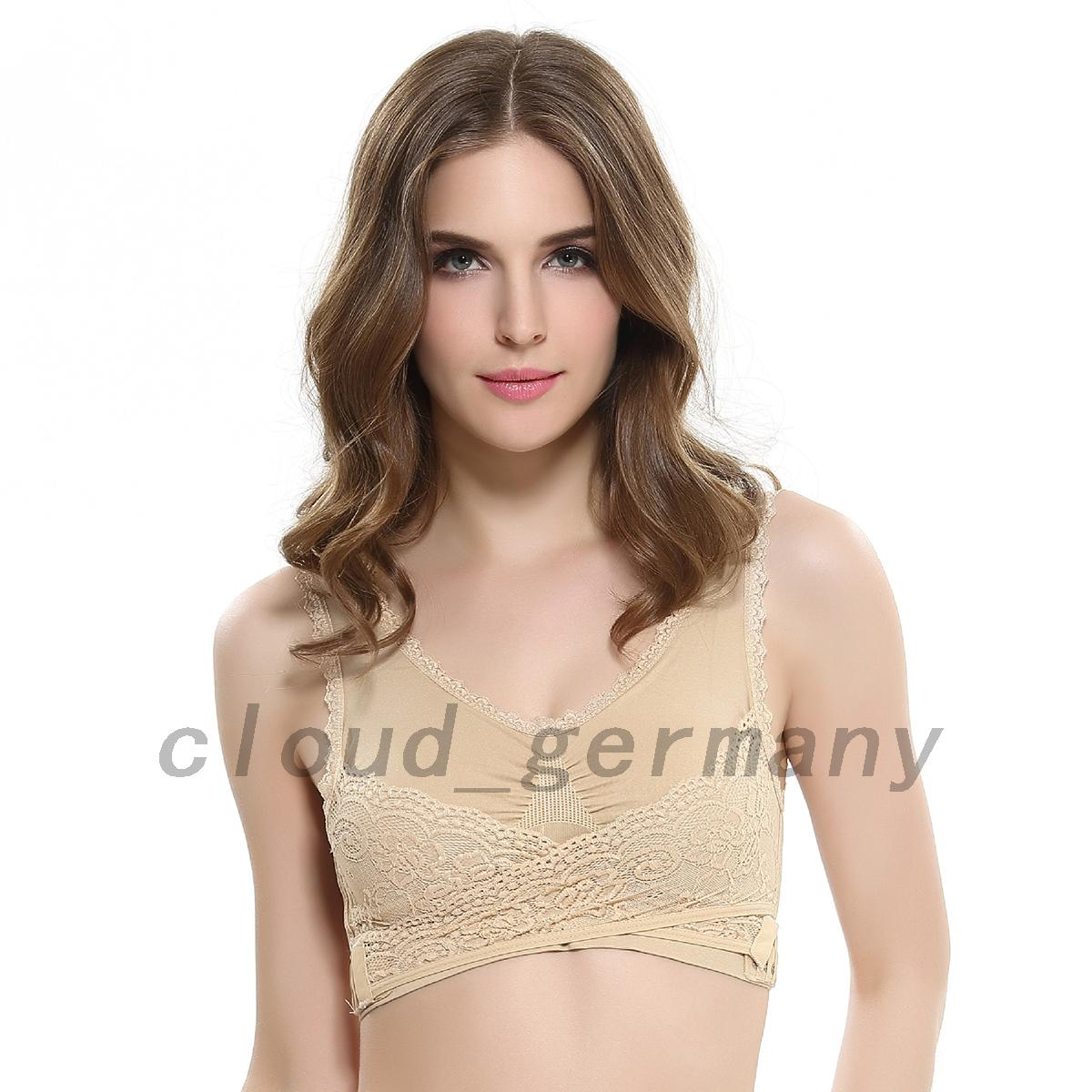 Femmes-Sexy-Confortable-Brassiere-Soutien-gorge-Sport-Sous-Vetement-Gym-Dentelle