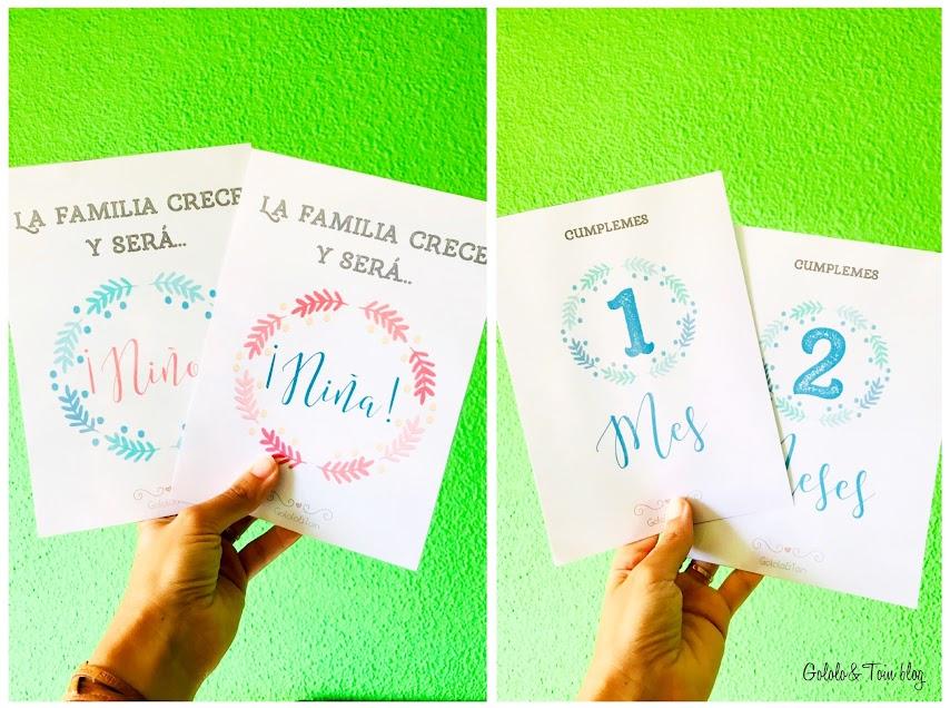 Descargable gratuito en pdf de tarjetas para fotos de bebé