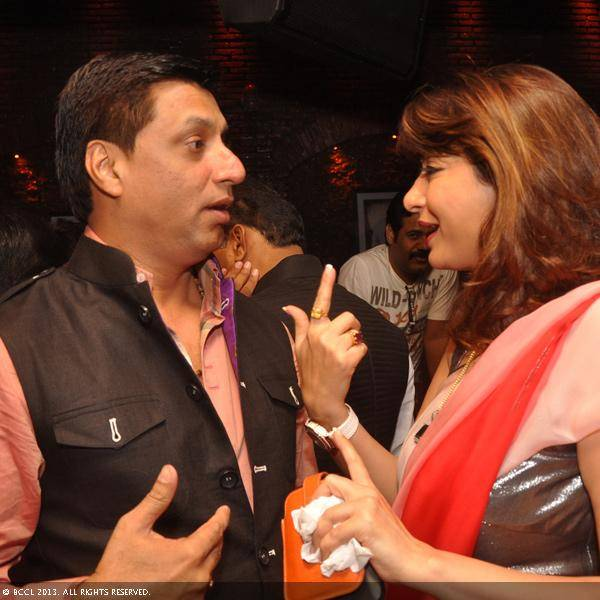 Madhur Bhandarkar and Sunanda Tharoor during Vani Tripathi's birthday bash, held in Delhi.