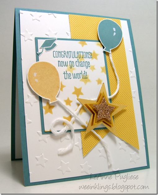 LeAnne Pugliese WeeInklings Congrats Graduation Card Paper Pumpkin Stampin Up
