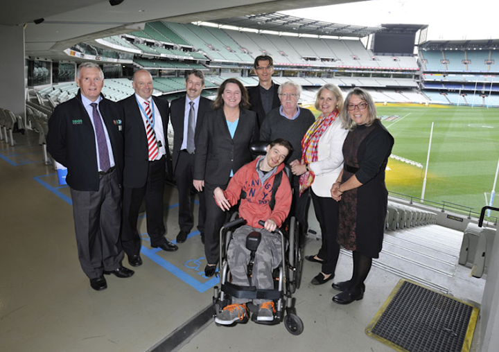 Changing Places announcement at the MCG.