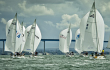 J/105 sailboats- sailing downwind at Lipton Cup San Diego