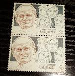 sellos Papa y Juventud 1989